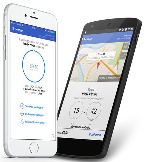 ParkAppy, App mobile per il parcheggio